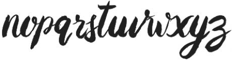 Baurbon otf (400) Font LOWERCASE