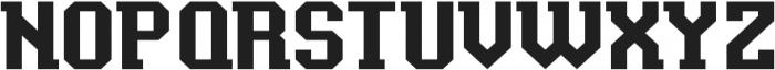 Baxter's Slab ttf (400) Font UPPERCASE