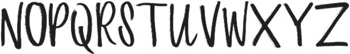 Bayside Hand otf (400) Font UPPERCASE