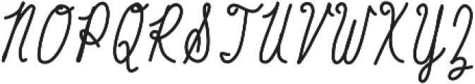 Baystyle Pen ttf (400) Font UPPERCASE