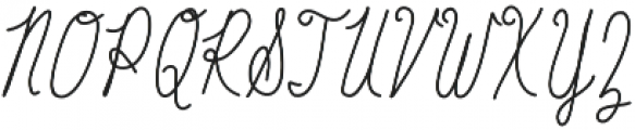 Baystyle Pencil otf (400) Font UPPERCASE