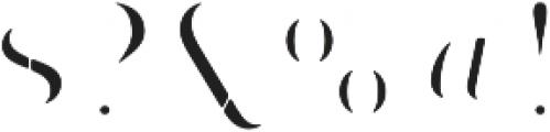 Bazaruto Iron Fill otf (400) Font OTHER CHARS