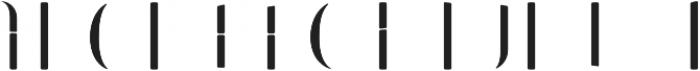 Bazaruto Iron Fill otf (400) Font UPPERCASE
