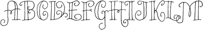 Bazaruto Iron Hand Regular otf (400) Font UPPERCASE