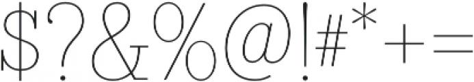 Bazaruto Text Monoline otf (400) Font OTHER CHARS