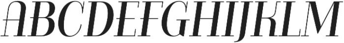 Bazaruto Text Oblique otf (400) Font UPPERCASE