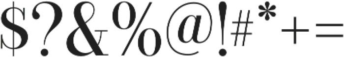 Bazaruto Text Regular otf (400) Font OTHER CHARS