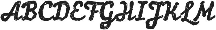 balzac Dirt Rough otf (400) Font UPPERCASE
