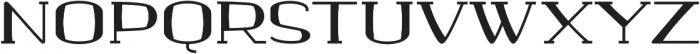 banister Bold Semi Expanded Loaded otf (700) Font UPPERCASE