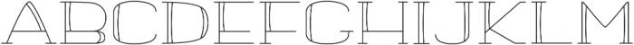 banister Light Semi Expanded otf (300) Font UPPERCASE