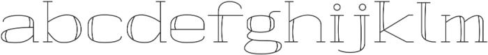 banister Light Semi Expanded otf (300) Font LOWERCASE