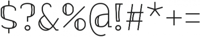 banister Regular Semi Condensed otf (400) Font OTHER CHARS