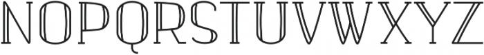 banister Regular Semi Condensed otf (400) Font UPPERCASE