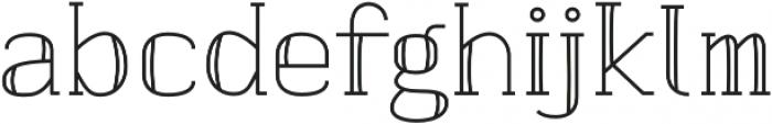 banister Regular Semi Condensed otf (400) Font LOWERCASE