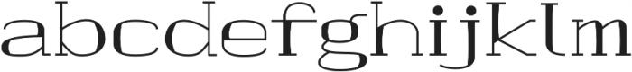 banister Regular Semi Expanded Loaded otf (400) Font LOWERCASE