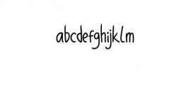 Balibong Font LOWERCASE