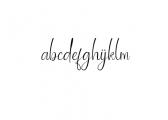 Ballroom Font LOWERCASE