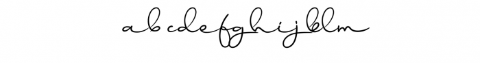 Ballyamh Font LOWERCASE