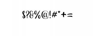 Bananito-Display.otf Font OTHER CHARS