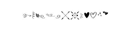 Bananito-Symbols.otf Font UPPERCASE