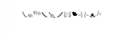 Bananito-Symbols.otf Font LOWERCASE
