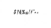 Bargain Script.ttf Font OTHER CHARS