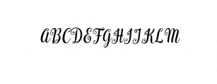 Bargain Script.ttf Font UPPERCASE