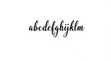 Bargain Script.ttf Font LOWERCASE