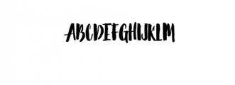 Barstilla Handpainted Font Font UPPERCASE