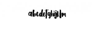 Barstilla Handpainted Font Font LOWERCASE