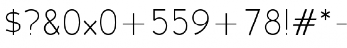 Backtalk Sans BTN Light Font OTHER CHARS
