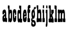 Bandoliers Slim Font LOWERCASE