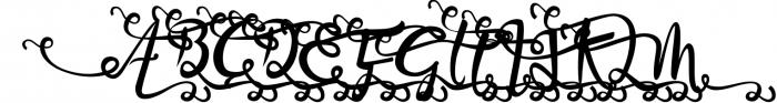 Bandrose typeface 1 Font UPPERCASE
