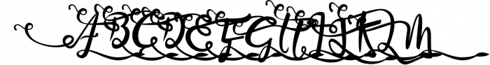 Bandrose typeface 3 Font UPPERCASE