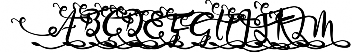 Bandrose typeface 5 Font UPPERCASE