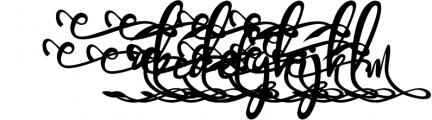 Bandrose typeface 5 Font LOWERCASE