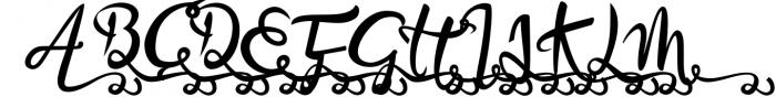 Bandrose typeface 6 Font UPPERCASE
