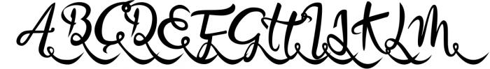 Bandrose typeface 7 Font UPPERCASE