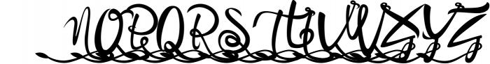 Bandrose typeface 9 Font UPPERCASE