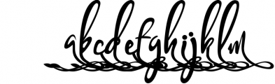 Bandrose typeface 9 Font LOWERCASE