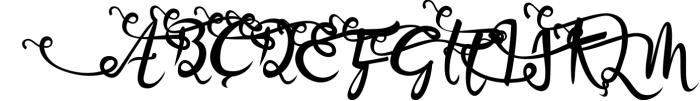 Bandrose typeface Font UPPERCASE