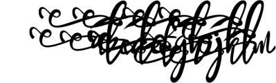 Bandrose typeface Font LOWERCASE