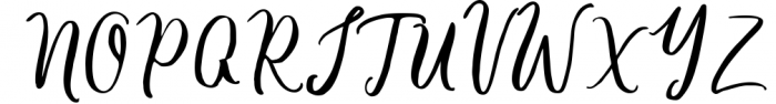 Barbeque Script 1 Font UPPERCASE