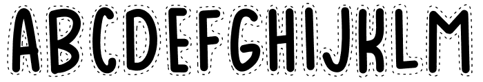 BADUY Font UPPERCASE