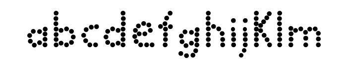 BALL bold Font LOWERCASE