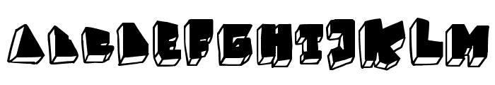 BALOK-balok TAK sempurna Font UPPERCASE