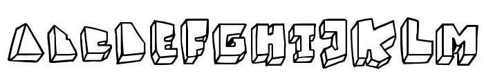 BALOK-balok TAK sempurna Font LOWERCASE