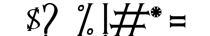 BAND OF REALITY Font OTHER CHARS
