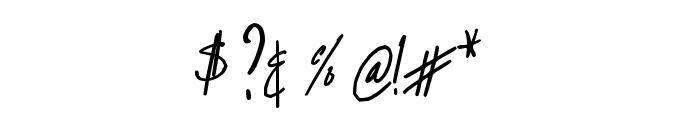 BART Handschrift Font OTHER CHARS