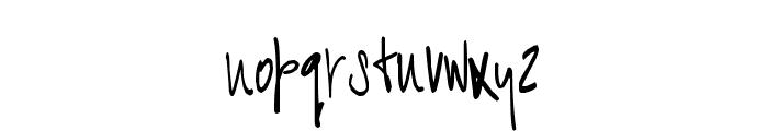 BART Handschrift Font LOWERCASE
